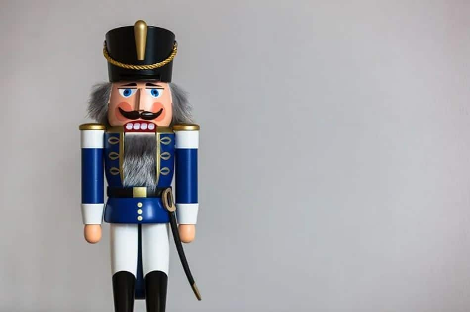 Christmas Nutcracker standing at attention