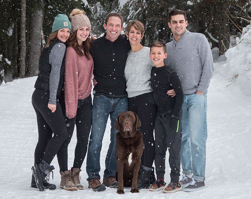 Spokane Dentists Dr. Marnie Collins & Dr. Ken Collins with their family